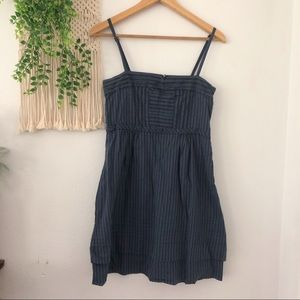 MARC JACOBS Striped Sleeveless Mini Sundress Dress